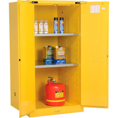 Justrite Flammable Cabinet With Self Close Double Door 60 Gallon