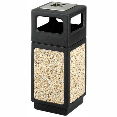 Safco® Canmeleon™ Aggregate Panel, Ash Urn/Side Open, 15 Gallon Black, 9470NC