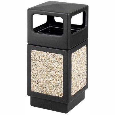 Safco® Canmeleon™ Aggregate Panel, Side Open, 38 Gallon, Black - 9472NC