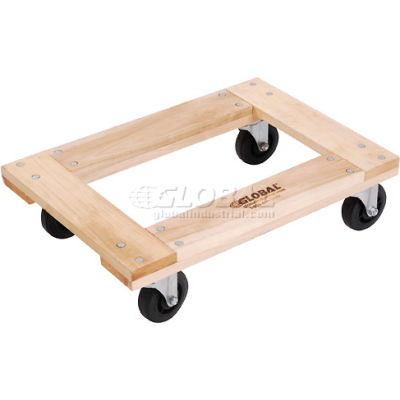 Global Industrial™ Hardwood Dolly with Open Deck 24 x 16 1000 Lb. Capacity