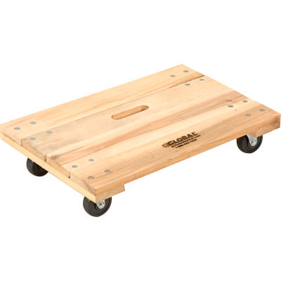 Global Industrial™ Hardwood Dolly with Solid Deck 36 x 24 1000 Lb. Capacity