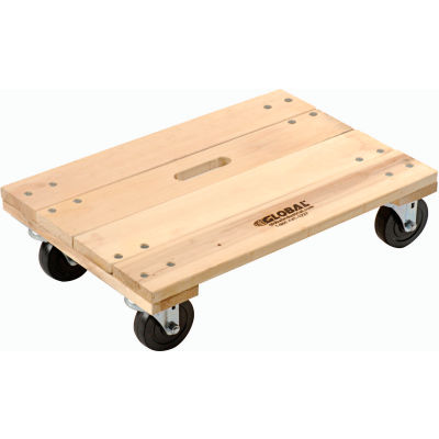Global Industrial™ Hardwood Dolly with Solid Deck 36 x 24 1200 Lb. Capacity