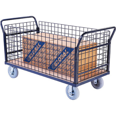 Global Industrial™ Euro Truck With 4 Wire Sides & Wood Deck 60 x 30 1200 Lb. Capacity