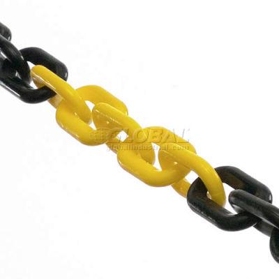 "Global Industrial™ Plastic Chain Barrier, 1-1/2""x50'L, Yellow/Black"