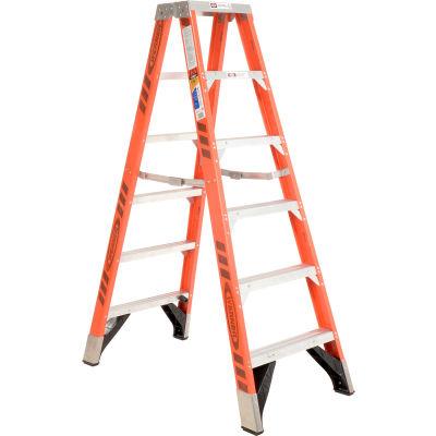 Werner 6' Dual Access Fiberglass Step Ladder 375 lb. Cap - T7406
