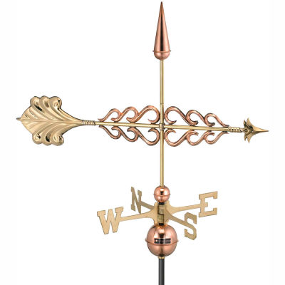 Good Directions Smithsonian Arrow Weathervane, Polished Copper