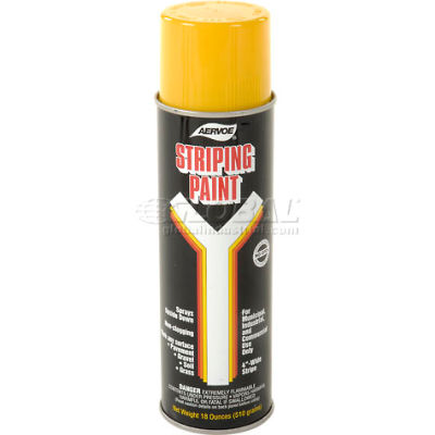 Yellow Line Striper Spray Paint - Pkg Qty 12