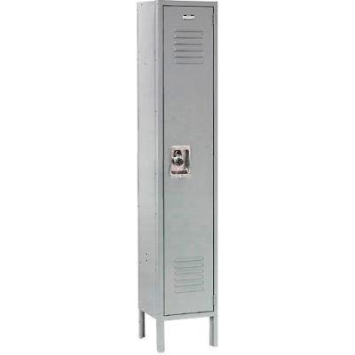 """Global Industrial™ Infinity® Single Tier 1 Door Locker, 12""""Wx12""""Dx60""""H, Gray, Unassembled"""