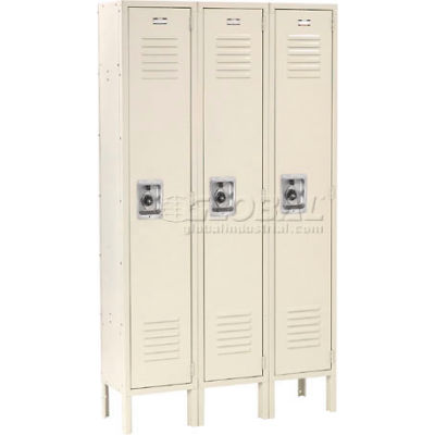 Infinity™ Locker Single Tier 12x18x72 3 Door Ready To Assemble Tan