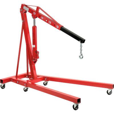 Global Industrial™ Folding Floor Crane with Telescopic Boom 4000 Lb. Capacity