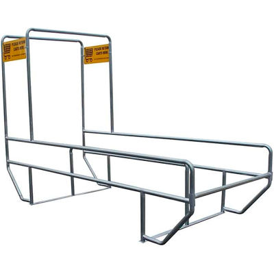 """VersaCart Double Outdoor Shopping Cart Corral with Divider & Double Arch 12'L x 60""""W"""