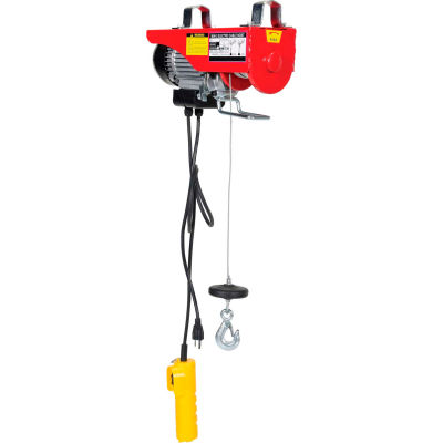 Mini-Electric Cable Hoist 200 Lb. Double Line Capacity