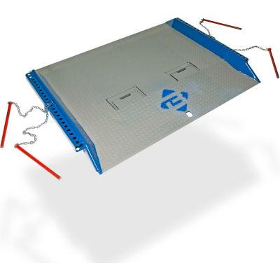 Bluff® 15C8448 Steel Red Pin Heavy Duty Dock Board 84 x 48 15,000 Lb. Cap.