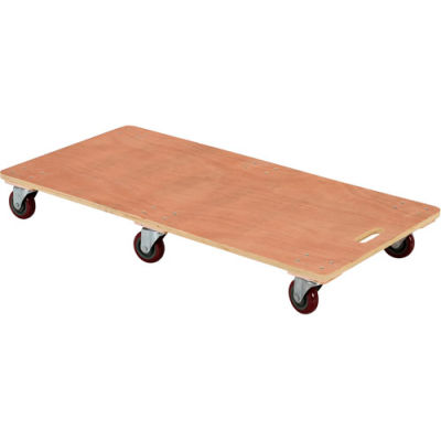 Six-Wheel Wood Deck Movers Dolly HDOS-2448-6SW 48x24