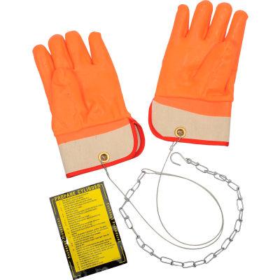 Ideal Warehouse Forklift Propane Cylinder Handling Gloves - 70-1020 On Hand Gloves