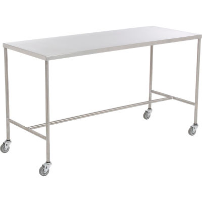 """AERO Stainless Steel Instrument Table with H-Brace, 20""""L x 16""""W x 34""""H"""