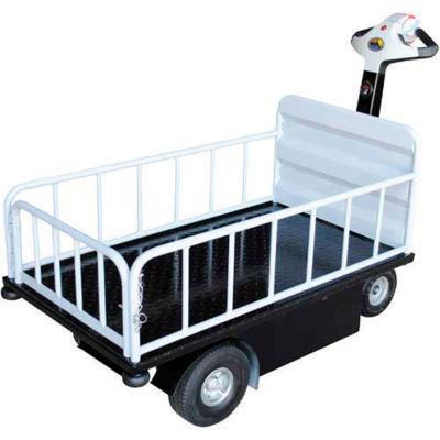 1 Shelf Battery Powered Traction Drive Platform Truck 750 Lb. Cap.