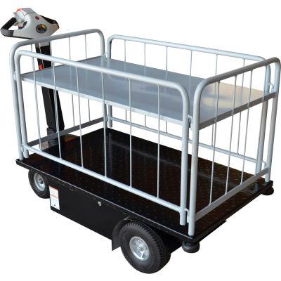 2 Shelf Battery Powered Traction Drive Platform Truck 500 Lb. Cap.