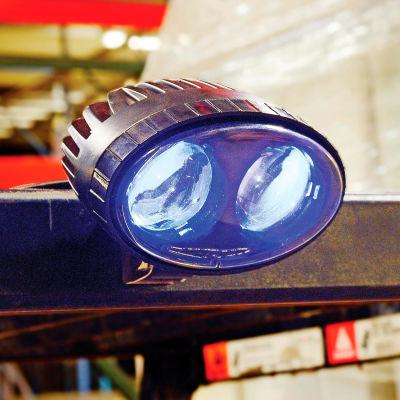Global Industrial™ Blue LED Forklift Pedestrian Safety Warning Spotlight.