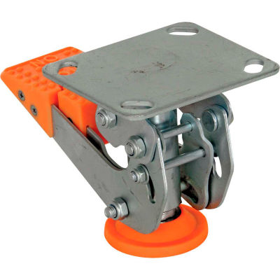 "Floor Lock with Polyurethane Foot Pad FL-LKH-4 for 4"" Casters"