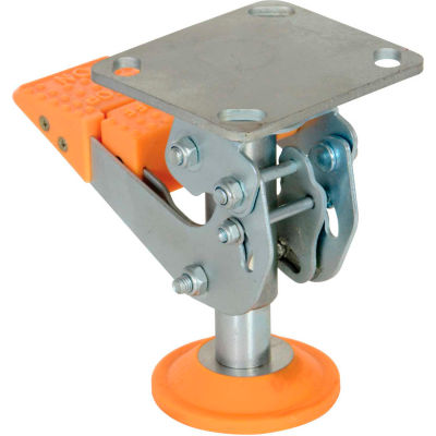 """Floor Lock with Polyurethane Foot Pad FL-LKH-6 for 6"""" Casters"""