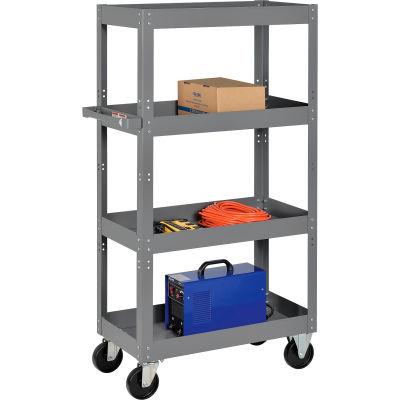 Global Industrial™ Multi-Level Steel Shelf Truck with 4 Shelves 30 x 16 800 Lb. Capacity