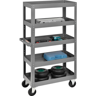Global Industrial™ Multi-Level Steel Shelf Truck with 5 Shelves 30 x 16 800 Lb. Capacity