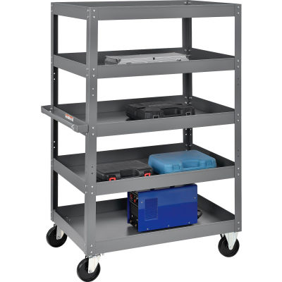 Global Industrial™ Multi-Level Steel Shelf Truck with 5 Shelves 36 x 24 800 Lb. Capacity