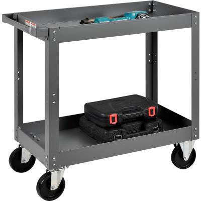 Global Industrial™ 2 Shelf Deep Tray Steel Stock Cart 30x16 800 Lb. Capacity