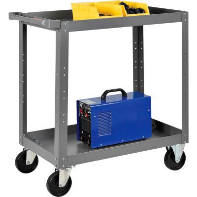 Global Industrial™ 2 Shelf Steel Stock Cart 30 x 18 800 Lb. Capacity