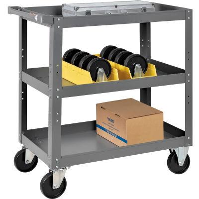 Global Industrial™ 3 Shelf Steel Stock Cart 30 x 18 800 Lb. Capacity