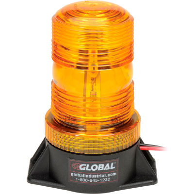Global Industrial™ High-Profile Amber LED Permanent Mount Forklift Strobe Light 12 to 110 Volts
