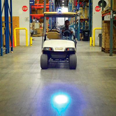 Blue LED Personnel Vehicle Pedestrian Safety Warning Spotlight