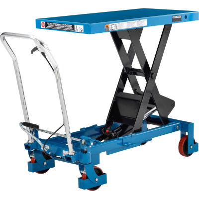 Global Industrial™ Best Value Mobile Heavy Duty Scissor Lift Table 40x20 Platform 2200 Lb. Cap.