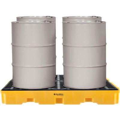 Global Industrial™ 4-Drum Spill Containment Modular Platform, Assembled
