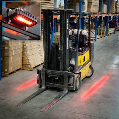 """Global Industrial™ LED Forklift """"Red Zone"""" Side-Mount Pedestrian Safety Warning Light"""