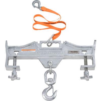 Global Industrial™ Double Fork Forklift Hook Attachment - 4000 Lb. Cap. - Swivel Hook