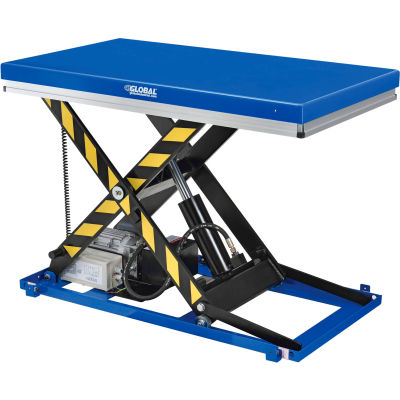 "Global Industrial™ Power Scissor Lift Table, Hand & Foot Control, 48"" x 36"", 2200 Lb. Capacity"