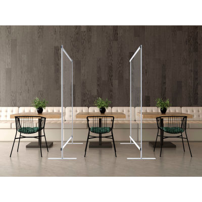 Global Industrial™ Floor Supported Portable Clear Personal Safety Partition, 6'W x 6'H
