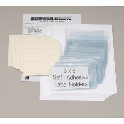 "Self Adhesive Label Holder 5""W X 3""H (50 pcs/pkg)"