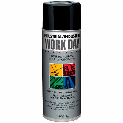Krylon Industrial Work Day Enamel Paint Gloss Black - A04402007 - Pkg Qty 12