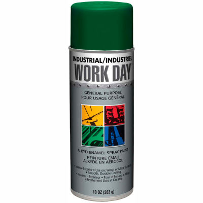Krylon Industrial Green Work Day Enamel Paint - A04408007 - Pkg Qty 12