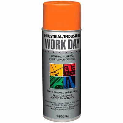 Krylon Industrial Work Day Enamel Paint Orange - A04413007 - Pkg Qty 12