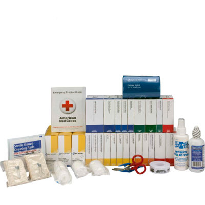 First Aid Only™ 90619 First Aid Refill w/out Meds For 2 Shelf Kit, ANSI Compliant, Class B+