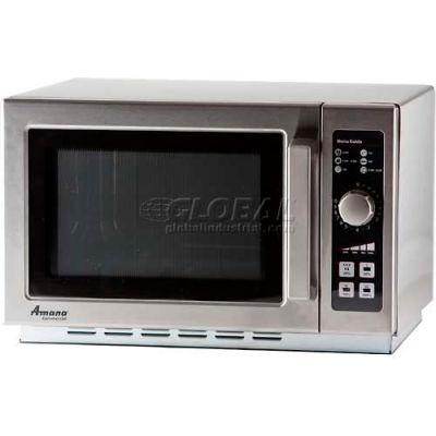 Amana® RCS10DSE, Commercial Microwave, 1.2 Cu. Ft., 1000 Watt, 10-Minute Dial