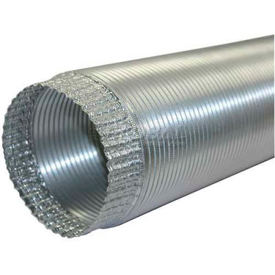 "Speedi-Products Aluminum Flex Pipe Crimped One End EX-AFC 696 6"" X 96"""