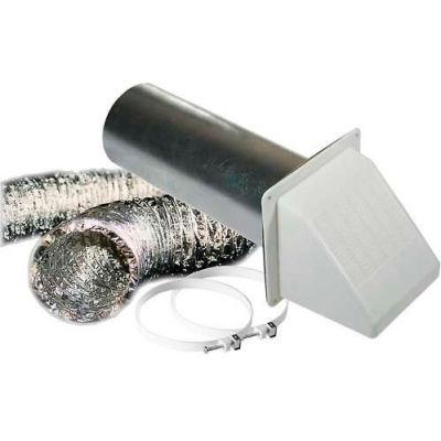 "Speedi-Products Ul 181 Alum. Foil Duct Vent Kit With White Hood EX-DVK 496 4"" X 96"""