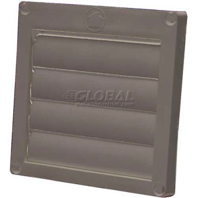 """Speedi-Products Louvered Plastic Flush Hood EX-HLFB 04 Brown No Tailpipe 4"""""""