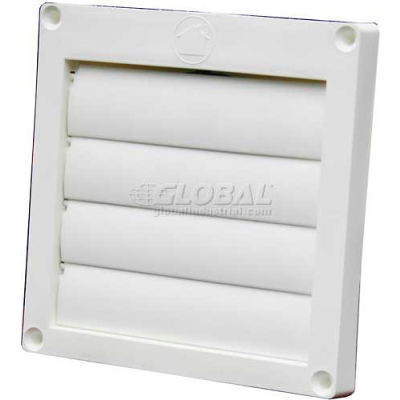 """Speedi-Products Louvered Plastic Flush Hood EX-HLFW 04 White No Tailpipe 4"""""""
