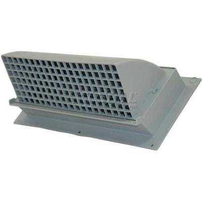 "Speedi-Products Rectangular Plastic Hood EX-HRPG 310 Gray 3.25"" X 10"""